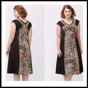 Lane Bryant Leopard Print Dress. Size 18. New!